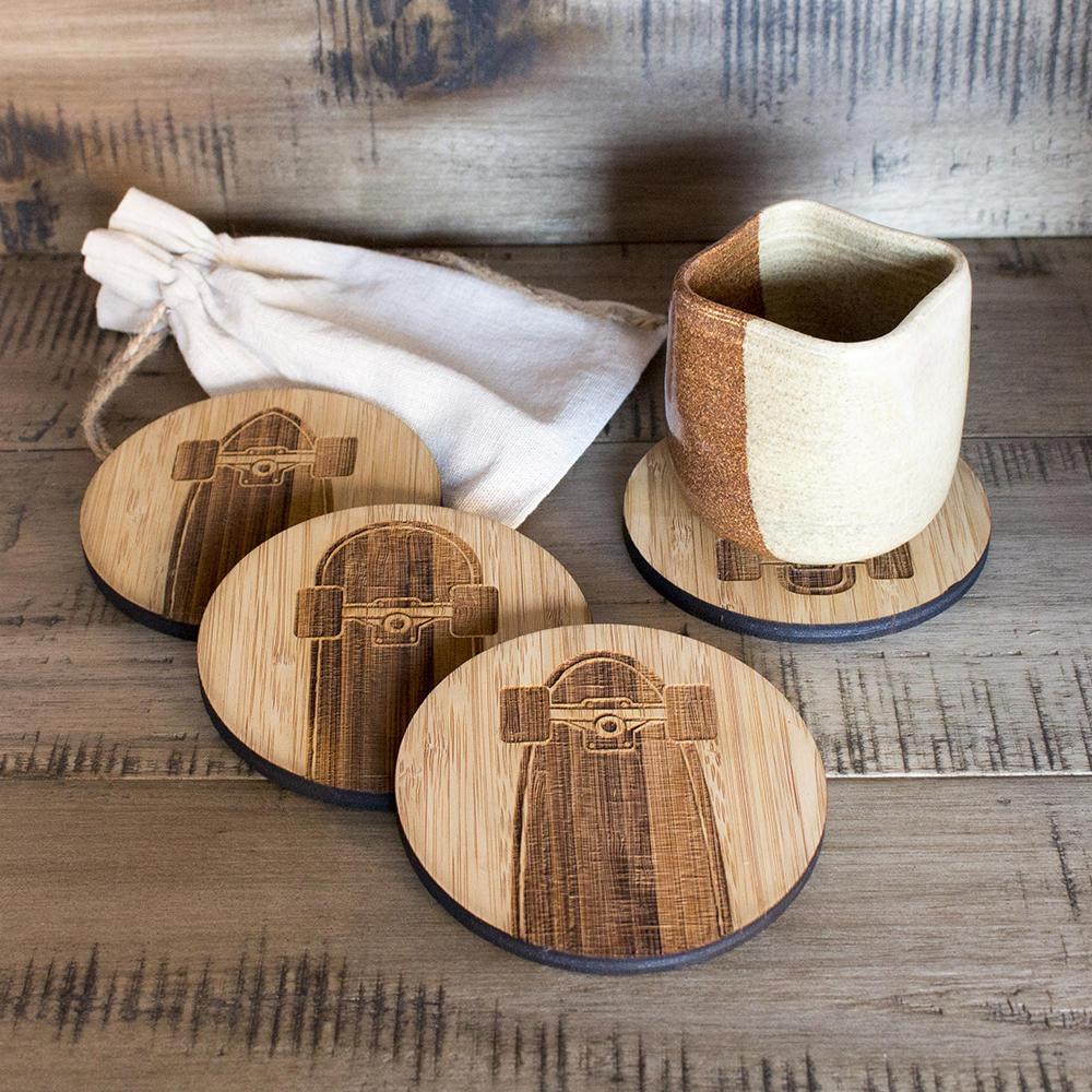 Responsible Craft Skateboard Coaster Set